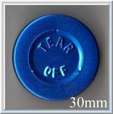 30mm center tear off vial seal