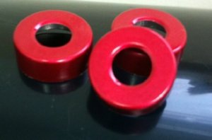 red 20mm center hole punch seals