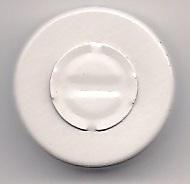 20mm Center Vial Seal - white