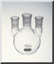 Kimax Distilling Flasks, Flasks, Distilling Flasks, Three Neck Flasks, Kimax Three Neck Flasks